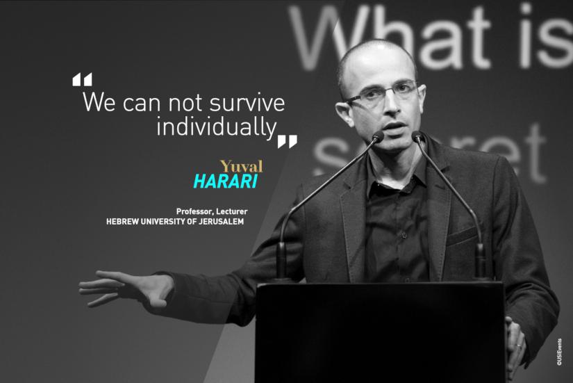 Citation de Yuval Harari lors de son talk à la conférence USI sur la force du groupe